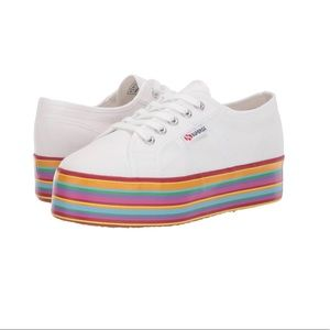 Canvas Platform Sneaker by Superga